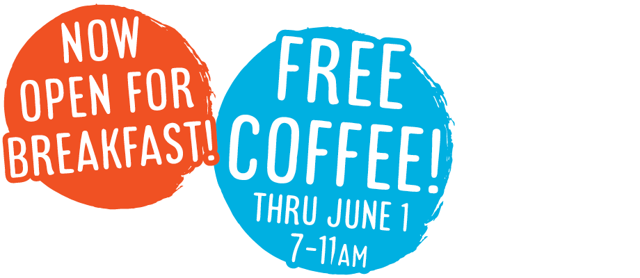 FREE Coffee Through 6/1