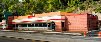 Construction is completed for the new Banksville Eat'n Park.