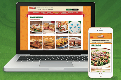 We introduce online ordering for takeout.
