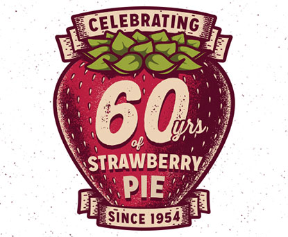 Our famous Strawberry Pie celebrated its 60th anniversary.